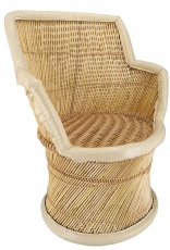 Reed wicker basket chair - Model 1