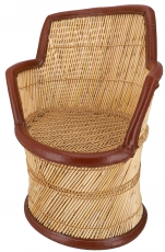 Reed wicker basket chair - Model 2