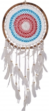 Dreamcatcher - blue/white/red 44 cm