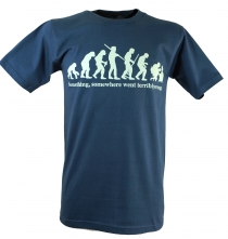 Fun T-Shirt `Evolution` - blau