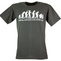 Fun T-Shirt `Evolution` - grau