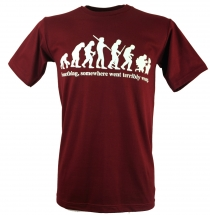 Fun T-Shirt `Evolution` - rot