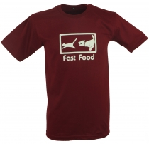 Fun T-Shirt `Fast Food` - rot