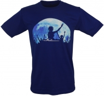 Fun T-Shirt `Fullmoon Party` - blau