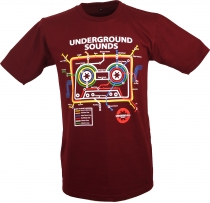 Fun T-Shirt `Underground Sound` - rot