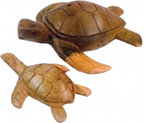 Carved decoration turtle in 2 sizes
