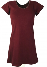 Goa Minikleid Boho-chic - bordeaux