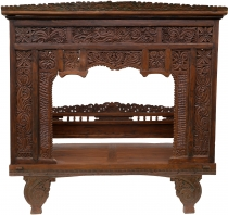 Historical four-poster bed, teak day bed - Model 3