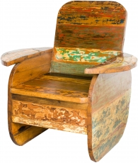 Wooden armchair, chair made of recycled teak - model 6
