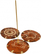 Indonesian Ceramic Incense Holder brown