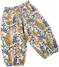 Kids pants, harem pants, Aladdin pants - sun yellow