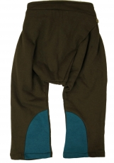 Kids pants, Pumphose - brown/petrol