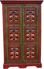 Wardrobe with carvings and painting - Model 1