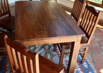 Colonial style dining table R509 light without fittings - Model 6