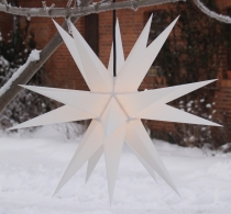 LED Melchior Outdoor II White, 3D outer star Ø 60 cm, with 20 tip..