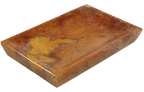 Marble soap dish, Zen dish for the washstand - orange