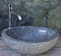 Solid oval marble top wash basin, washbasin bowl, natural stone h..