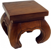 Mini opium table, flower bench made of solid wood - brown 20*20 c..
