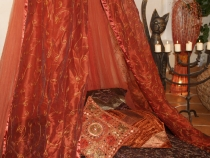 Oriental canopy1001 night, bed canopy, mosquito net - red