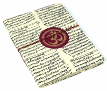 notebook, diary, notebook, writing book made of Lokta paper Om in..