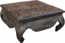 opium tables, coffee table, side table, coffee table, carved