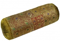 Patchwork bolster, sofa cushion 50 cm - yellow