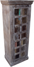 Cabinet, side cabinet, chest of drawers with old block printing s..