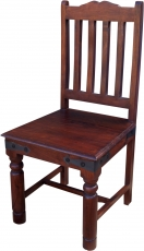 Chair in colonial style R444 dark - model 4