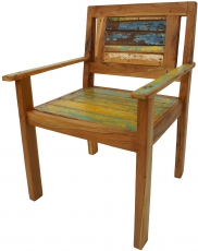 Chair in recycled teak - model 15