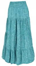 Maxi skirt batik, long summer skirt made of sarong fabric - turqu..