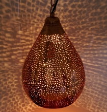 Copper plated ceiling lamp in Moroccan design, oriental ceiling l..