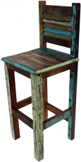 Vintage recycled wood bar stool - Model 1