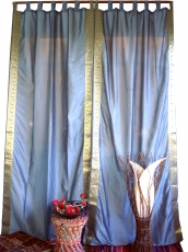 Curtain, curtain (1 pair of curtains, drapes) made of saree cloth..