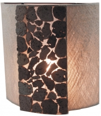 Wall lamp/wall lamp, handmade in Bali from natural material, lava..