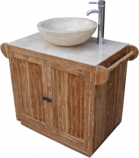 Washbasin, washbasin, antique white marble - model 1
