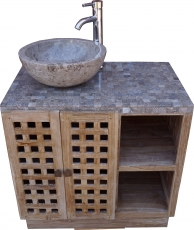 Washbasin, washbasin, antique white marble - model 2