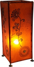Henna lamp, leather table lamp/table lamp - Model Agra