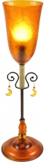 Table lamp Kokopelli Senorita orange H0981
