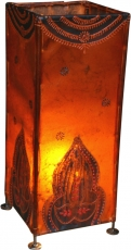 Henna lamp, leather table lamp/table lamp - model Pushkar