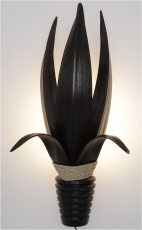 Palm leaf wall lamp/wall lamp, handmade in Bali from natural mate..