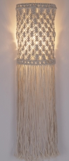 Wall lamp/wall lamp, handmade in Bali from macramé - Model Sheela
