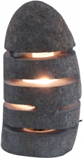 Table Lamp/Table Lamp Rivera, handmade in Bali from natural stone