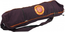 yoga mat bag Om - dark wine