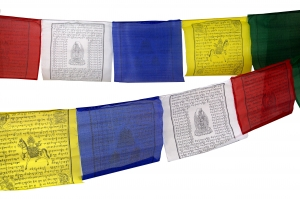Tibetan prayer flag in different lengths - 25 pennants/viscose