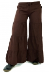 Palazzohose, Hippie chic Schlaghose, Pluderhose - coffee