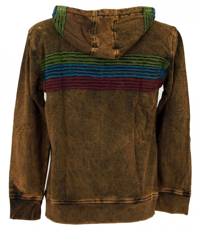 244aaaff21 Goa Hoodie Jacket, Stonewash Ethno Hoodie Jacket - cappuccino